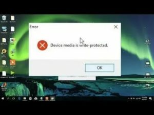 Device is write protected