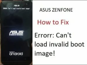 Asus invalid boot image