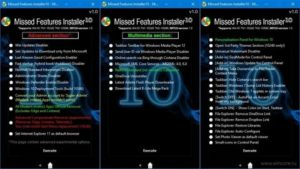 Missed features installer for 10